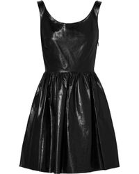 Miu Miu Leather Dress - Lyst