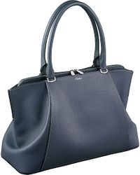 Cartier C De Leather Medium Tote - For Women blue - Lyst