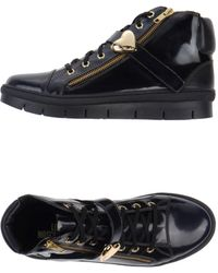 Love Moschino Blue Hightops Trainers - Lyst