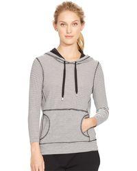 Lauren by Ralph Lauren Striped Hooded Pullover - Lyst