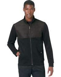 Calvin Klein Full-zip Solid Full-zip Pique Fleece Jacket - Lyst