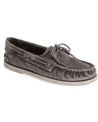 Sperry Top-Sider 'Authentic Original' Washed Canvas Boat Shoe - Lyst
