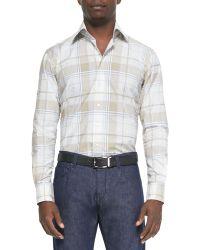 Etro Plaid-print Long-sleeve Sport Shirt - Lyst