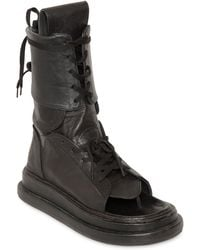 KTZ - Gladiator Open Toe Leather Boots - Lyst