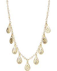Lauren by Ralph Lauren - Bead and Teardrop Charm Collar Necklace - Lyst