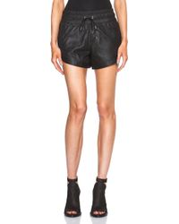 Helmut Lang Kiln Leather Shorts - Lyst