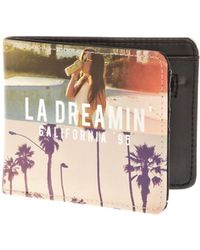River Island Black La Dreamin Print Fold Over Wallet - Lyst