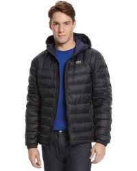 Lacoste Packable Down Puffer Jacket - Lyst