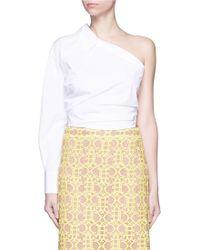 Emilio Pucci | Point Collar One-shoulder Poplin Shirt | Lyst