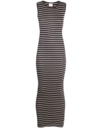 Edith A. Miller Stripe Sleeveless Maxi Dress - Lyst