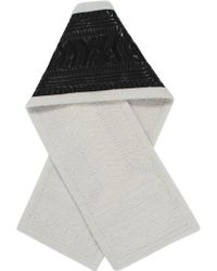 KTZ - Dogtooth Patchwork Long Scarf Black/off White - Lyst
