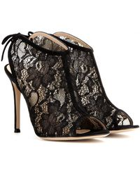 Gianvito Rossi Lace Sandals - Lyst