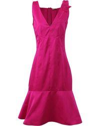 Nina Ricci Rose Shoulder Flared Dress - Lyst