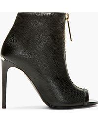 Burberry Prorsum - Black Grain Leather Brooksmead Ankle Boots - Lyst