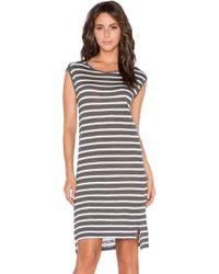 Velvet By Graham & Spencer Leila Linen Stripe Dress - Lyst