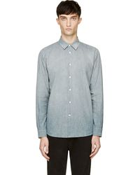 Marc Jacobs Blue Faded Oxford Shirt - Lyst