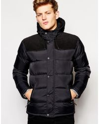 Brave Soul Padded Jacket With Hood - Lyst