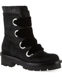 Alexander McQueen Black Biker Boots - Lyst