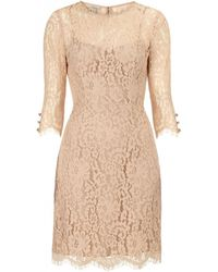 Temperley London Connie Fitted Dress brown - Lyst