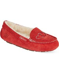 Ugg Ansley Hearts Slippers - Lyst