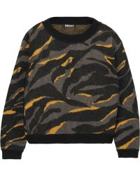 DKNY Printed Boiled Wool Sweater - Lyst