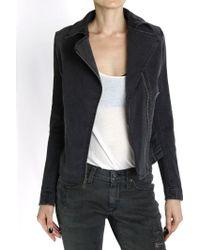 James Jeans Moto Denim Jacket - Lyst