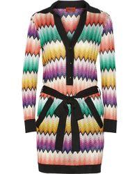 Missoni Crochet-Knit Mini Dress - Lyst