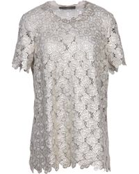 Giles Blouse silver - Lyst