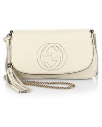Gucci Soho Leather Shoulder Bag white - Lyst