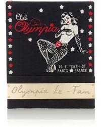 Olympia Le-Tan Black Club Olympia Matchbook Clutch - Lyst