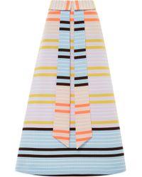 Suno Neon Stripe Faux Tie Skirt - Lyst