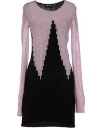 Sonia Rykiel Pink Short Dress - Lyst