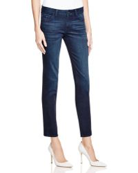 Warp & Weft | Paris Faded Cigarette Jeans In Dark Wash | Lyst