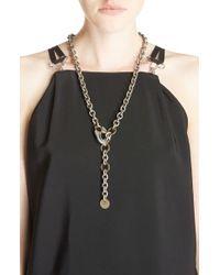 Lanvin - Cuff Pendant Necklace Belt - Lyst