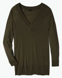 Theory Delrina L Pullover In Preen - Lyst