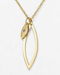 Jennifer Zeuner Leona Double Charm Necklace 27 - Lyst