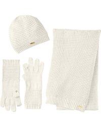 Calvin Klein Wafflehatglovescarf Set 3 Piece - Lyst