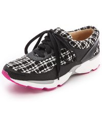 Jeffrey Campbell Run Walk Sneakers  Black Glitter - Lyst