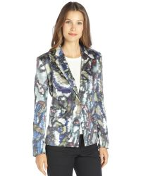 Theyskens' Theory Silk Blend Printed Janta Blazer - Lyst