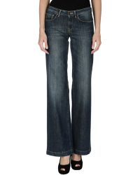 Alysi Denim Pants - Lyst