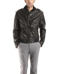 Rag & Bone Black Leather Motorcycle Jacket - Lyst