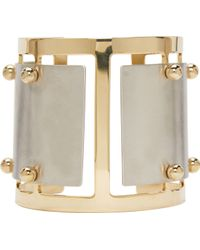Caterina Zangrando - Silver And Brass Studded Elisa Cuff - Lyst