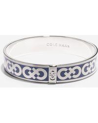 Cole Haan Enamel Logo Round Bangle silver - Lyst
