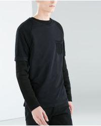 Zara Raglan Sleeve Tshirt - Lyst