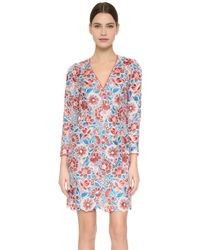 Wes Gordon - Embroidered Long Sleeve Dress - Lyst