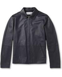 Loewe Leather Bomber Jacket - Lyst