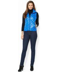 Lauren by Ralph Lauren - Quilted Packable Down Puffer Vest - Lyst