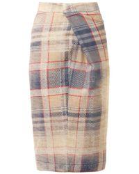 Vivienne Westwood Anglomania Isolation Fadedtartan Wool Skirt - Lyst