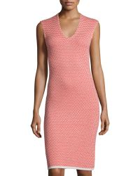 Todd And Duncan - Rose-pattern Cashmere Sheath Dress - Lyst