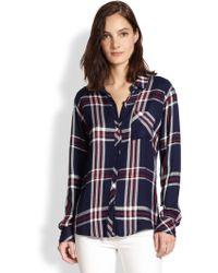 Rails Relaxed Plaid Shirt - Lyst